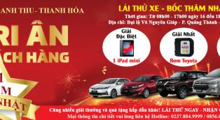 Toyota Doanh Thu kỷ niệm sinh nhật 1 năm: LÁI THỬ NGAY – NHẬN QUÀ LIỀN TAY